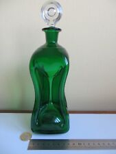 Pinch Waist Decanter Green Glass Glug Glug Bulls Eye Target Stopper Old Antique?