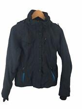 MARKER Black Snowboard Ski Jacket Coat Size 8 Thumb Loops Removable Hood Buttons