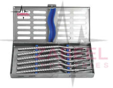 Dental Instruments Kit Osteotomes Flat Curved S6 W Cassette Ostmpuawc6 Zabeel