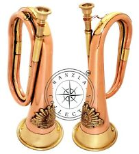 """12"""" Brass & Copper Bugle Australian Military Forces Commonwealth With Rising Sun"""