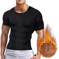 Men Slimming Body Shaper T-Shirt Posture Corrector Vest Abdomen Compression Tops