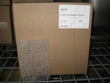 "100 - 4"" X 6"" Clear Flush Cut Small Bubble Pouch Mailer Bag - SHIPS FREE!"