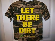 John Deere Let There Be Dirt Shirt Boys Size 4 NWT  #95