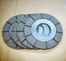 BSA BANTAM D14/B175  SET OF 4 FRICTION CLUTCH PLATES WITH CLUTCH GASKET AS WELL!