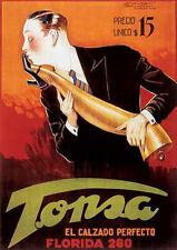 "Luciano Achille Mauzan TONSA EL CALZADO PERFECTO (37"" x 27"")  Shoe Advertisement"