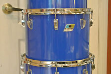 "EXPAND Your DRUM SET Today! RARE 70s LUDWIG USA 14"" BLUE CORTEX CONCERT TOM M652"