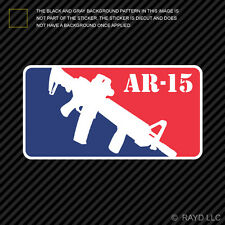 M-16 AR-15 Sticker Die Cut Decal M16 AR15 Major League Self Adhesive Vinyl