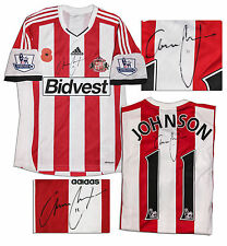 Adam Johnson Match Worn Sunderland Shirt Signed COA