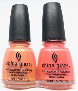 China Glaze Nail Polish BARE IF YOU DARE 562 + I WANNA LEI YA 564 Duos