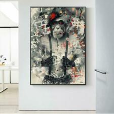 Smoking Monkey In Suit Graffiti Wall Art Poster And Prints Funny Animal Canvas