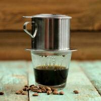 Edelstahl Vietnamesisch Kaffee Filterpresse Maker Einzel Tasse Für-Büro T7G I0T6