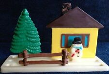 Christmas Stand Up House, Tree & Snowman Chocolate Candy Mold from CK  #4150