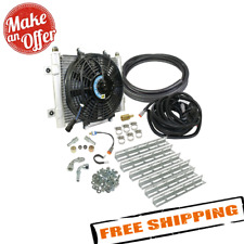 """BD Diesel 1030606-1/2 Xtrude Transmission Cooler w/ Fan Complete Kit, 1/2"""" Lines"""