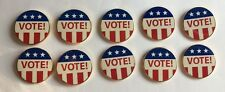 10 Lot VOTE Lapel Pin Political Election Campaign American Flag Freedom Liberty
