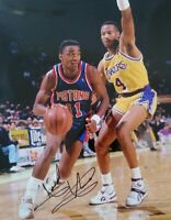 Isiah Thomas Autographed Signed 8x10 Photo ( HOF Pistons ) REPRINT