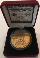 Michael Jordan  Bulls 1995 .999 Bronze Highland Mint RARE Coin CP9870