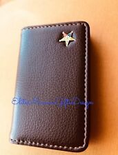 Masonic Order Of The Eastern Star  Business Card or Dues Card Holder. Brown.