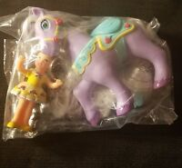 Disney Princess Belle & Rose Petal Horse Little People Mattel 2002 NEW RARE