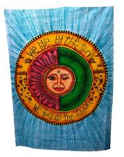 Tapestry Indian Designs We Live By The Sun and We Feel By The Moon Wall Hanging