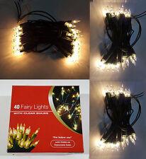NUOVA lampadina chiara di Natale 40 Luci Fata Albero & Luci Decorazione Festa Uk Stock