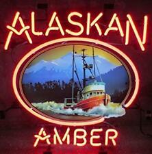 """New Alaskan Amber Brew Beer Neon Light Sign 19""""x15"""""""