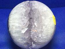 Amethyst Agate and Amethyst Crystal Sphere ball scrying gem stone reiki healing