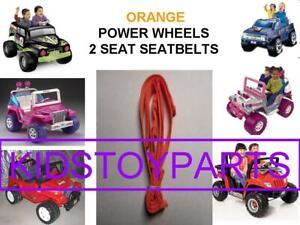 1X NEW ORANGE Fisher Price Power Wheels Seat Belt Set Product Number: 00801-2084