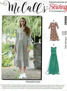 McCalls Sewing Pattern 8085 Very Easy Dress #SiellaMcCalls Size 4 - 26 New