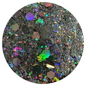 MAGNIFICENTLY GALAXY GREY CHUNKY GLITTER Nail Art Body FESTIVAL *PICK YOUR  BAG*