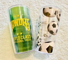 Set of 2 Tervis Soccer Futbol And Tampa Bay Rowdies 16 oz. Tumbler Cups Drinks