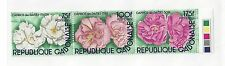 GABON #515  MNH -  STRIP OF 3 - FLOWERS - 1982