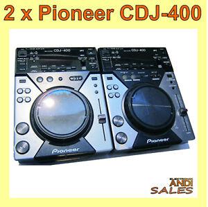 2 x Pioneer CDJ 400 + SERVICEPAKET mit Rechnung & Gewährleistung