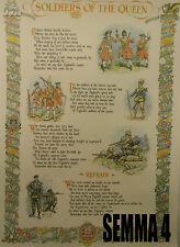 Soldiers of the Queen (Queen's Regiment) Quick March Printed Song Sheet (Lyrics)