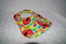 Handmade Lime Elmo Colorful Dots Baby Bib 100% cotton Terry Cloth Backing