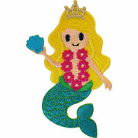 Embroidered Iron On Mermaid Patch Sew On Badge Girls Clothes Embroidery Applique
