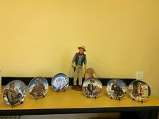 John Wayne Franklin Mint Collectible Plates and Figurine