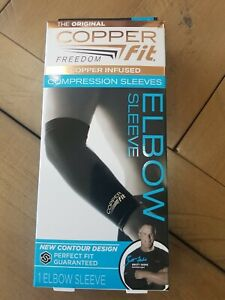 ✅ Copper Fit Freedom Copper Infused Elbow Compression Sleeve Large New
