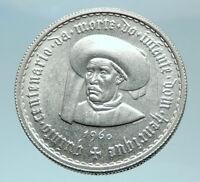 1960 PORTUGAL Prince Henry the Navigator Genuine Silver 5 Escudos Coin i78955