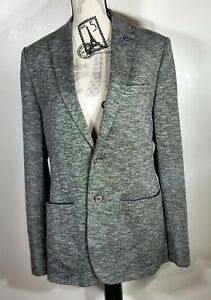Ted Baker Italy Textured jersey blazer, grey Ted Size 4, (lLarge) NWOT