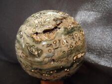 sphère en jaspe orbiculaire de 2.55 kg diametre 12 cm de Madagascar 2a38