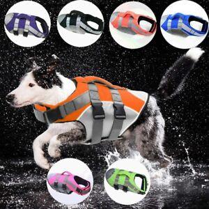 Pet Dog Life Jacket Vest Saver Safe Swimsuit Preserver S M L XL Adjustable NEW