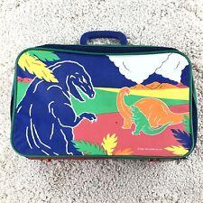 VINTAGE SANRIO 1986 1990 Dinosaur Suitcase Luggage Travel Bag Color Block 80s