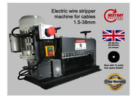 🇬🇧10 blades Wire Stripper / Stripping Machine for 1.5-38mm cables + free blade