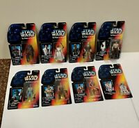 Star Wars POTF Lot of 8 Different: Chewy Leia R2-D2 Greedo 2 Luke 2 Han 95/96