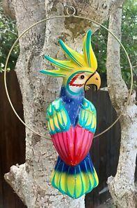 Talavera Bird Handmade & Painted Ceramic Mexican Pottery Hanging Patio Decor #02