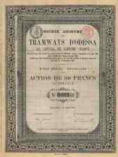 Tramways D´Odessa 1881 Ukraine Strassenbahn Brüssel Gewinnanteile Einzelstück