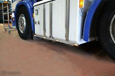 To Fit DAF XF 105 Stainless Steel 6x2 Side Bar Trims Skirts Strips + Amber LEDs