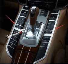 Interior Gear Shift Panel Button Cover Trim 2pcs For Porsche Panamera 2010-2015