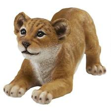Pounce: Big Cats Lion Cub Exotic Wildlife Sculpture Yard and Garden Statue