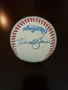MLB Official American League Baseball Signed By Hank Bauer